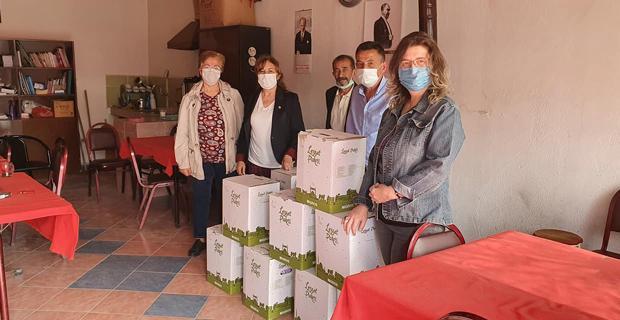 CHP kadın kollarından ilçelere yardım