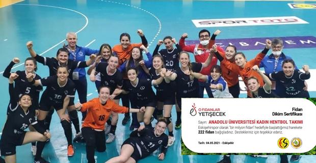 Hentbol takımından Eskişehirspor'a bir  destek daha