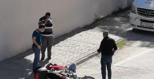 Motosiklet kazası, sürücü yaralandı