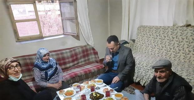 Vali Şentürk, İnan ailesiyle iftar yaptı