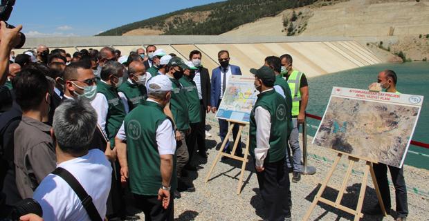 600 milyon TL'lik barajın ilk suyu verildi
