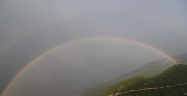 Artvin'de kartpostallık gökkuşağı manzarası