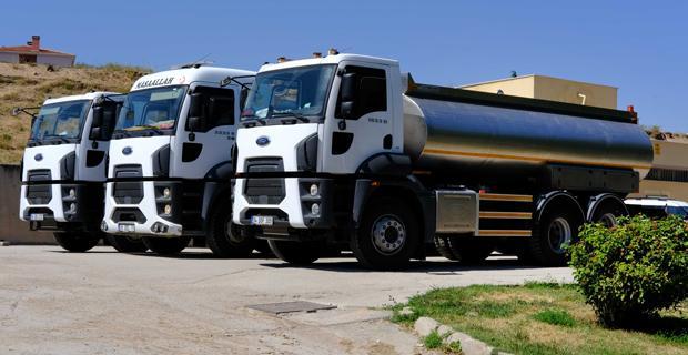 ESKİ 3 adet su tankerini hizmete sundu