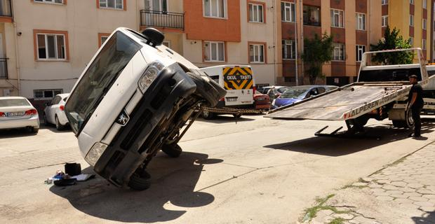 Eskişehir'de ilginç kaza
