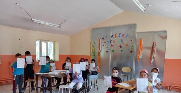 Günyüzü Kayakent Abdülhamit Alptekin Okulu öğrencileri telafi programında