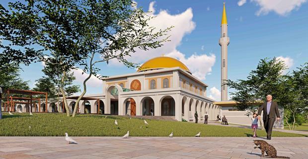 Mezarlıktaki camii böyle olacak