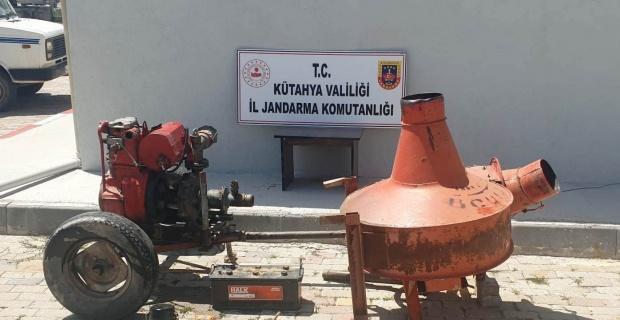 Kütahya'da su motoru ve malzeme hırsızlığına 2 gözaltı