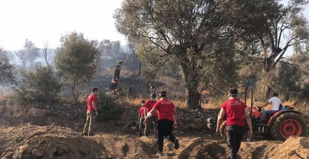 OBAK yangın bölgesinde yardım ediyor