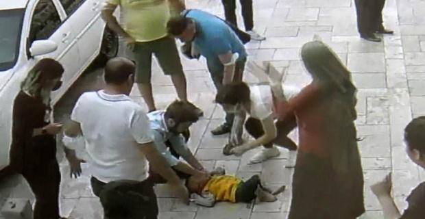 3. kattan zemine çakılan bebeği hayata döndürdü