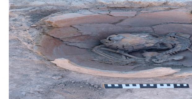 Arslantepe Höyüğü'nde MÖ 3600 yılından kalma 2 çocuk iskeleti bulundu