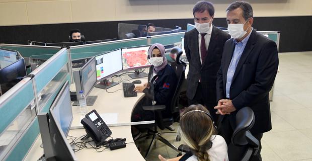 Ataç'tan 112 Acil Çağrı Merkezi'ne Ziyaret