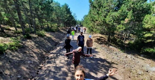 Avrupa Hareketlilik Haftası için doğa yürüyüşünde bir araya geldiler