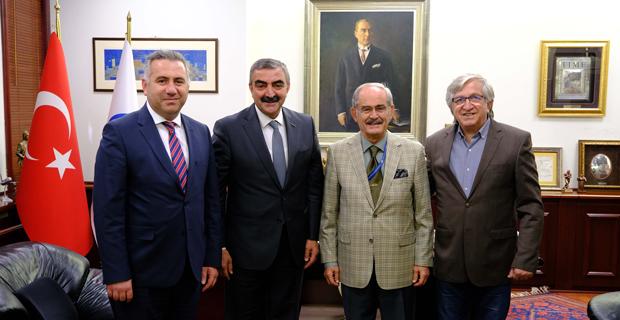 Başkan Büyükerşen'e Ziyaret