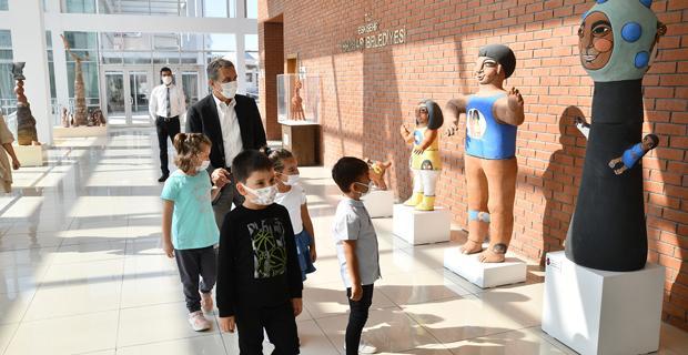 Çocuklardan Başkan Ataç'a Ziyaret