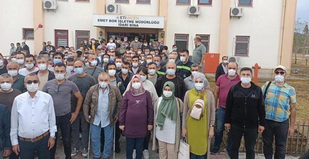 Eti Maden işçilerinden eylem