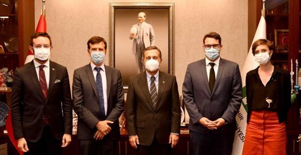 Fransız Dili İş Birliği Ataşesi Başkan Ataç'ı ziyaret etti