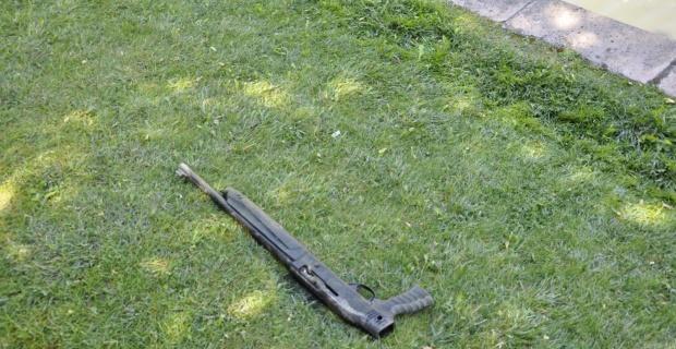 Porsuk Çayı'nda pompalı tüfek bulundu