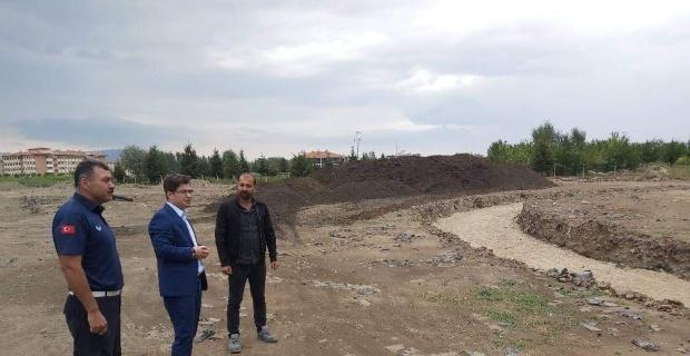 """Kaymakam Düzgün: """"Proje tamamlandığında millet bahçesi ilçenin gözdesi olacak"""""""