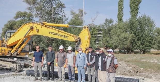 Kütahya'da yeni yerleşim alanlarına kanalizasyon hattı