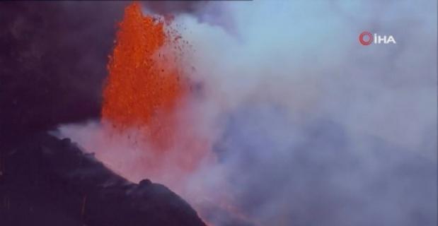 La Palma'daki Cumbre Vieja Yanardağı'nda patlamalar şiddetini arttırıyor