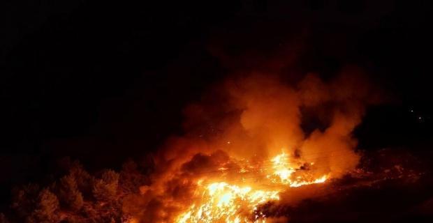 Osmaneli'nde çöplük alanda çıkan yangın kısa sürede söndürüldü