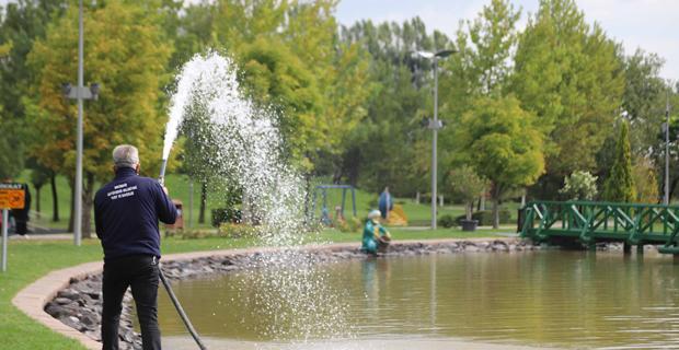 Sazova Göleti daha temiz olacak