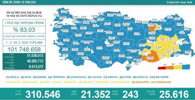 Korona virüsten 243 kişi hayatını kaybetti