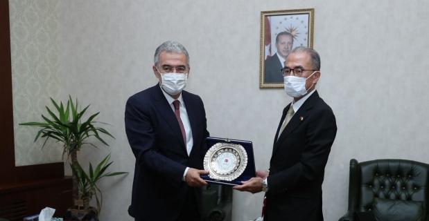 Vali Ayyıldız, Japon büyükelçiyi ağırladı