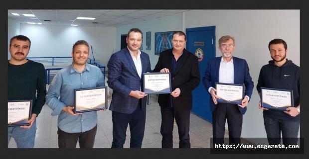 ESO-ES.NET Personeli sertifikalarını aldı