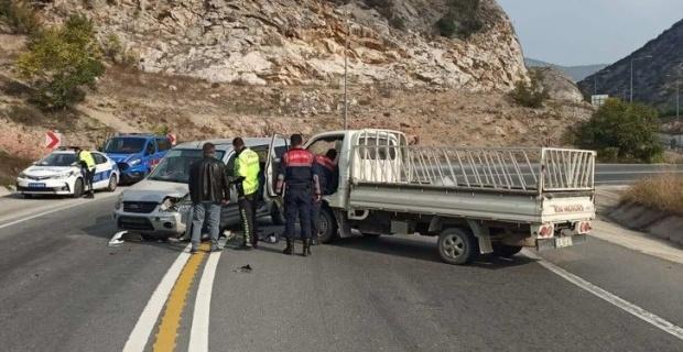 Gülümbe rampalarında trafik kazası; 1 yaralı