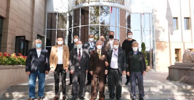 İlçe Başkanlarından Büyükerşen'e Ziyaret