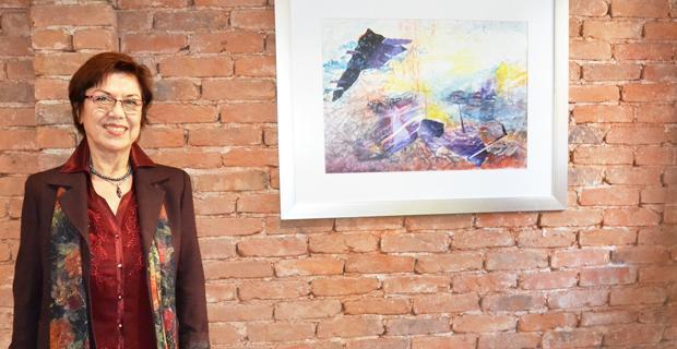 Münevver İzgi resimleri Butika'da sergileniyor