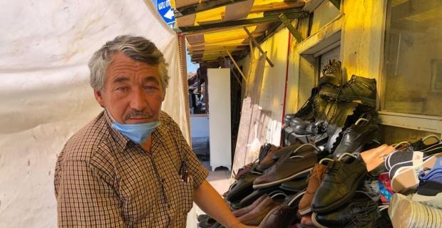 İkinci el ayakkabı satışı ile süren hayat mücadelesi