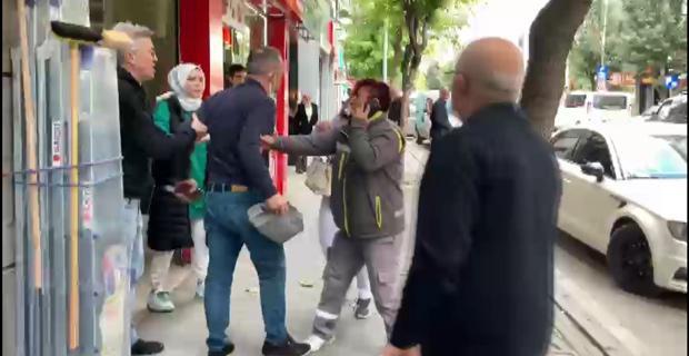 Sokak ortasında kadına dayak!