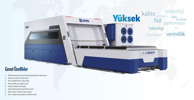 Yüksek Teknolojiye Sahip CNC Lazer Kesim Makinesi