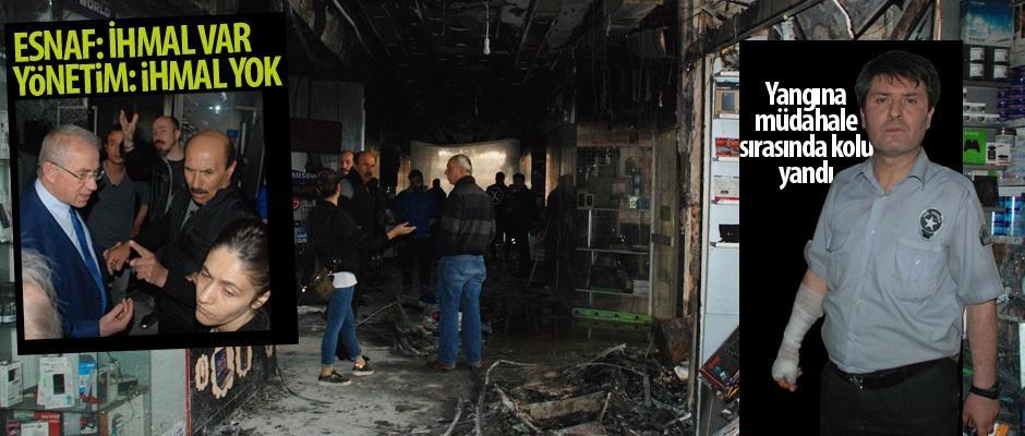 Esnaf Sarayı'nda çıkan yangında ihmal mi var?