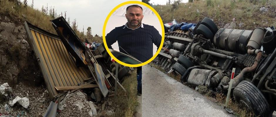 Gediz'de trafik kazası, 1 ölü