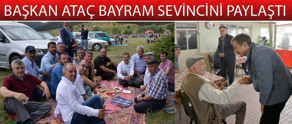 Ataç köylerdeki vatandaşlarla bayramlaştı