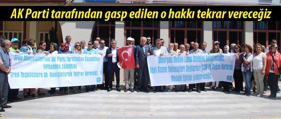 İYİ Partili Sayın makinistlerin sorunlarını gündeme getirdi