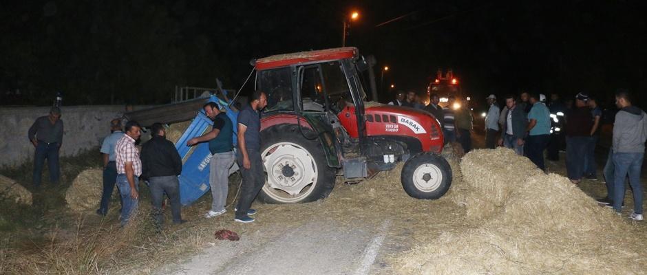 Kamyon, traktöre çarptı: 1 ölü, 2 yaralı