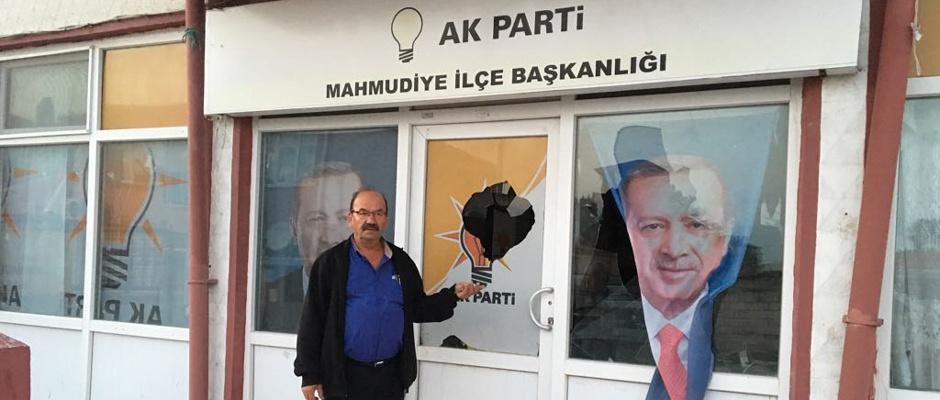 AK Parti Mahmudiye ilçe başkanlığına saldırı