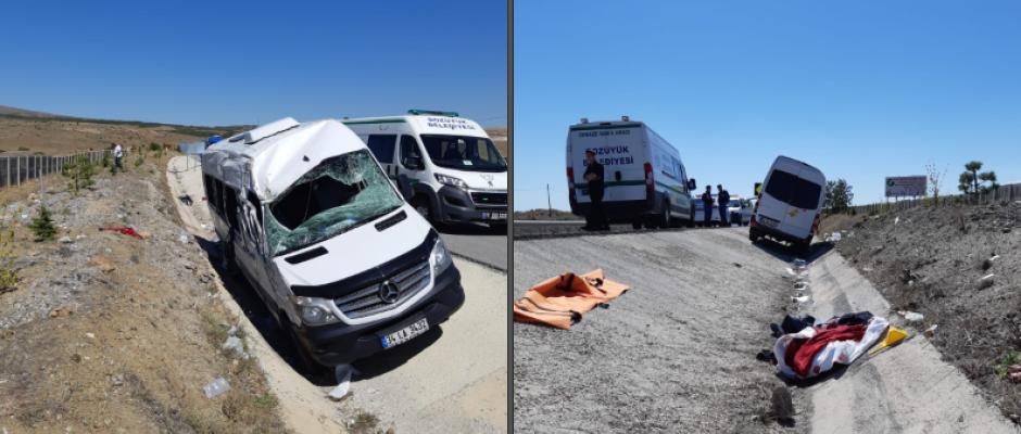 Trafik kazası: 1 ölü 6 yaralı