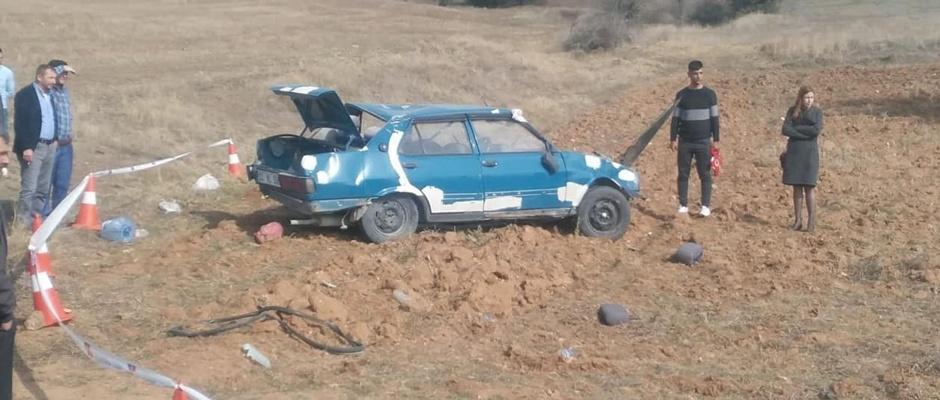 Otomobil takla attı: 1 ölü/Afyon
