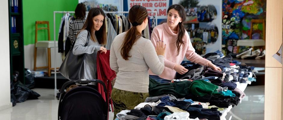 İkinci el eşya takas pazarı sürüyor