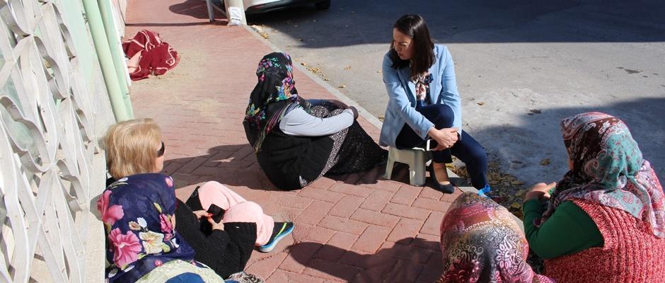 Başkan Yalçın'dan mahalle ziyaretleri
