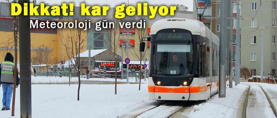 Eskişehir'e kar geliyor