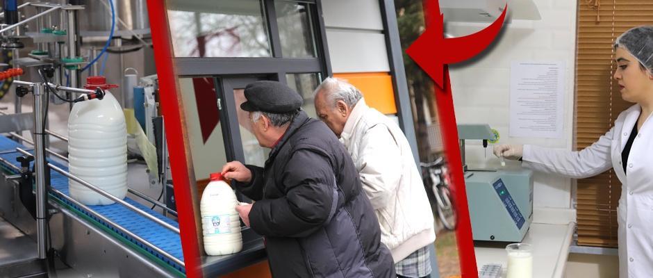 Eskişehirlilerden halk süte büyük ilgi