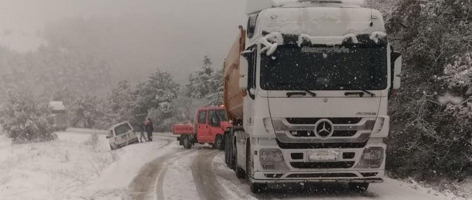 Bilecik-Bursa karayolu ulaşıma kapandı