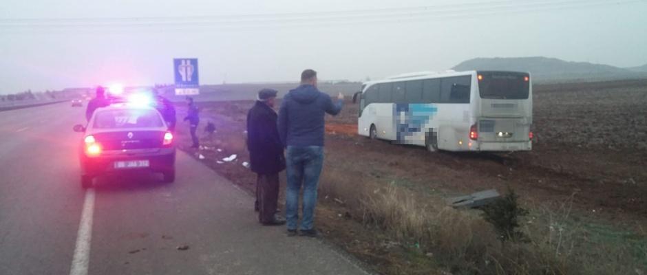 Otobüs kazası: 3 yaralı