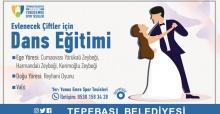 Evlenecek çiftler için dans eğitimi
